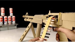 How to Make Cardboard Machine Gun Model (M60 E6) That Shoots