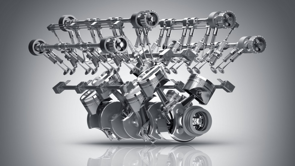 V8 Car engine. Concept of modern car engine. High resolution 3d render